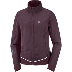 Salomon Lightning Lightshell Jacket Women, wine tasting/mauve win